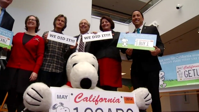 California to Start Production on Snoopy License Plates