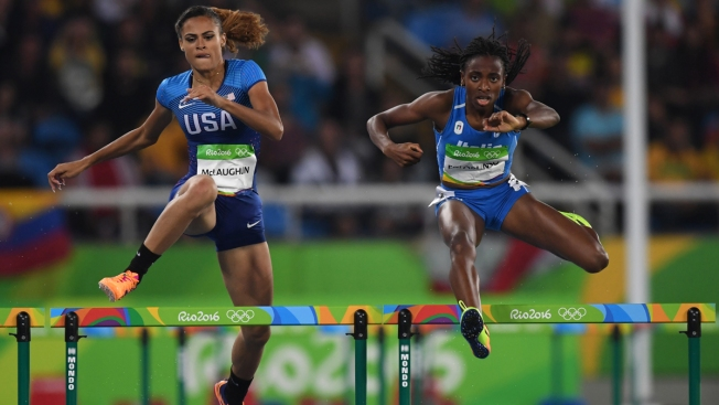 Olympics Done, Homework Time for Teenage Hurdler From New Jersey