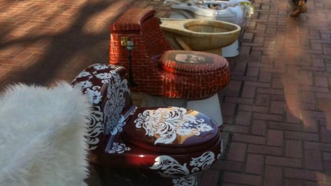 Artsy Toilets Raise Money for Homelessness