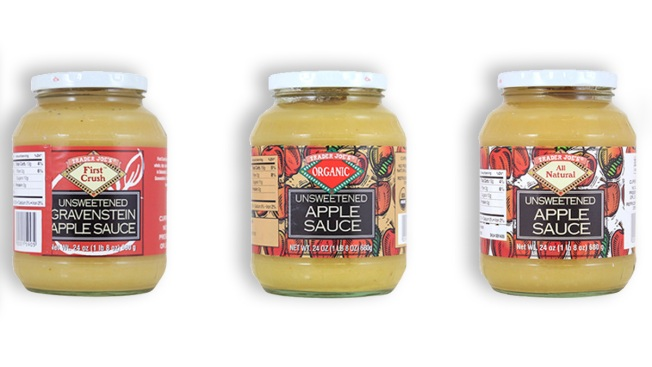 Trader Joe's Recalls Unsweetened Apple Sauce