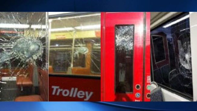 Large Rocks Lobbed at MTS Trolleys in Multiple Felony Cases
