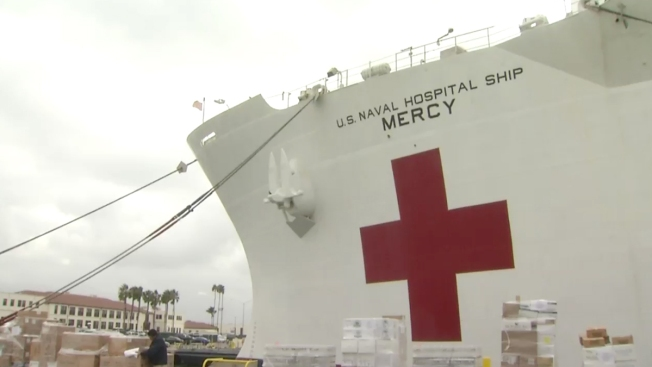 USNS Mercy Readies to Aid Typhoon Haiyan Victims