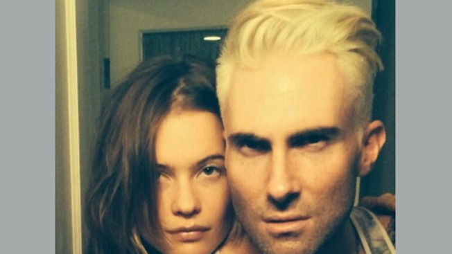 Adam Levine Debuts Crazy Platinum Blond 'Do