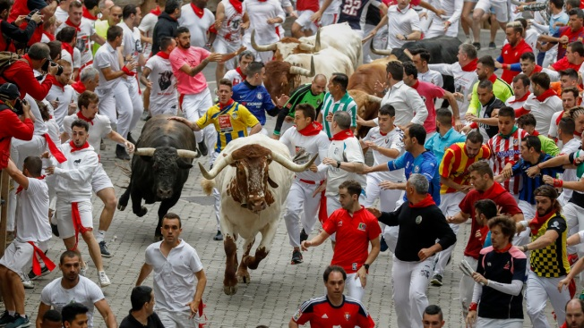 3 Runners Gored Racing With Bulls at Pamplona's Festival