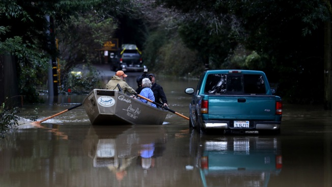 Storm Water Floods California Town of Guerneville, Turns It Into 'Island'