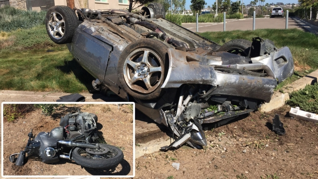 2 Hospitalized After Car Collides With Motorcycle In Carlsbad