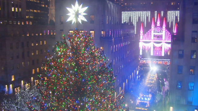 Rockefeller Center Christmas Tree Lit Up With 50,000 Lights