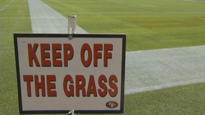 Whoops: Broncos Logo Painted In Wrong End Zone