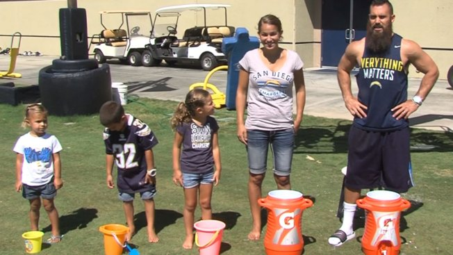 Eric Weddle, Family Ups Ante in Ice Bucket Challenge