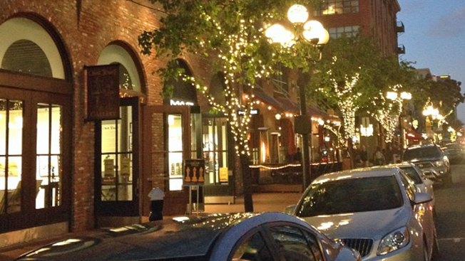 Lighted Trees Line Gaslamp Streets