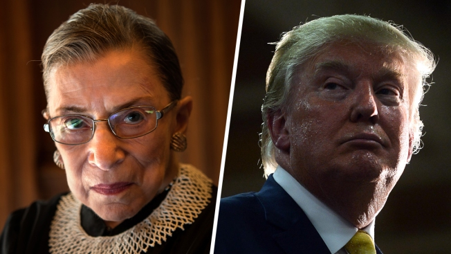 Ginsburg Abandons Supreme Court Neutrality in Calling Out Trump