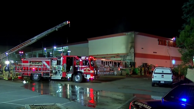 Trailer Catches Fires Extends Into Home Depot In Mountain View