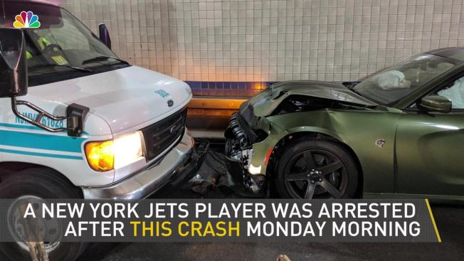 Nfl Player Drives Wrong Way Into Lincoln Tunnel Hits Bus Police