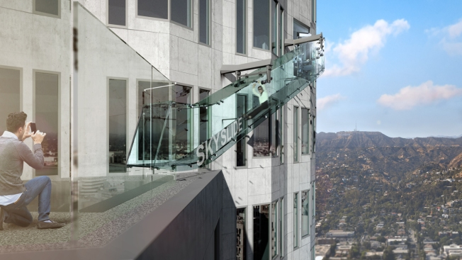 Glass Slide Heads for LA Skyscraper