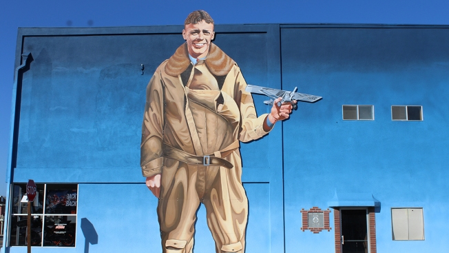Charles Lindbergh Mural Relocated to Ramona