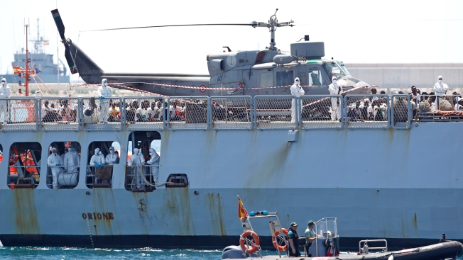 Rescue Ships Dock in Spain as Migrant Debate Roils Europe