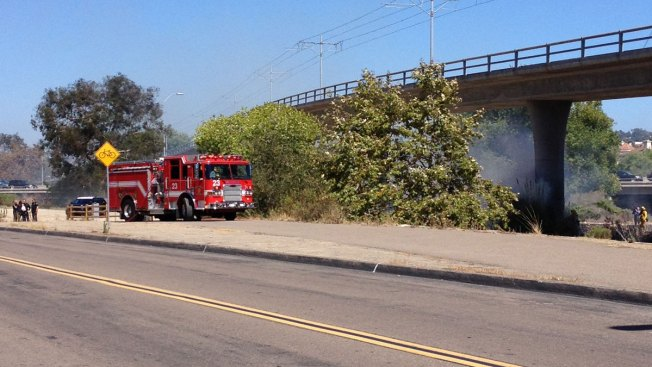 Crews Battle Mission Valley Brush Fire