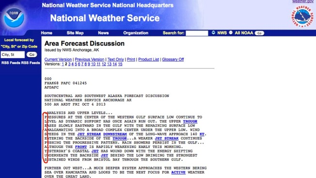"Government Weather Forecasters in Secret Code: ""Please Pay Us"""