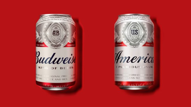 Budweiser Becomes 'America' on Beer Cans