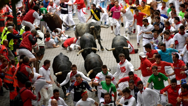 13 Injured, Including 2 Americans, in Final Running of the Bulls of 2017