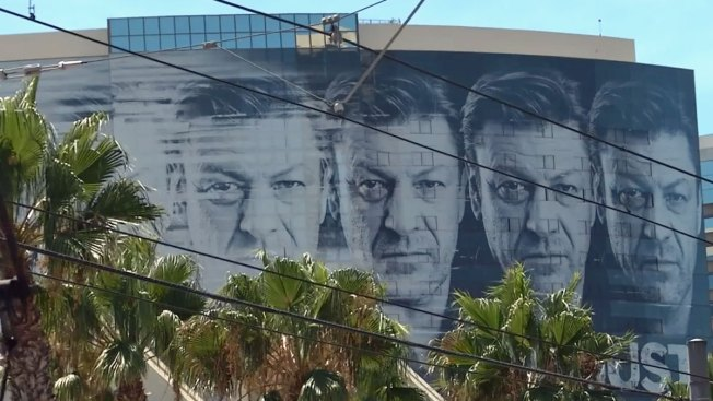 Downtown Buildings Host Comic-Con Ads