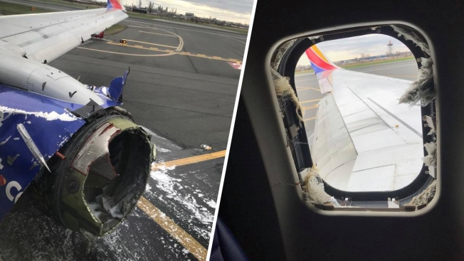 [NATL-PHI-PHOTOS] Southwest Flight Makes Emergency Landing in Philly After Engine Blows