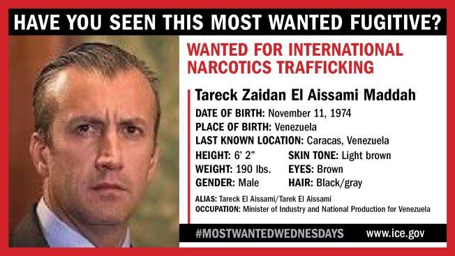 ICE: Former Venezuelan VP Among 10 Most Wanted Fugitives - NBC 7 San