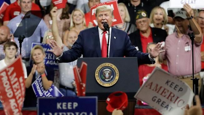 At Rally, Trump Predicts 'Gridlock and Chaos' If Democrats Take Over Congress