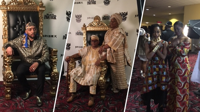 Harlem Embraces the Spirit of Wakanda at 'Black Panther' Opening Night Showings