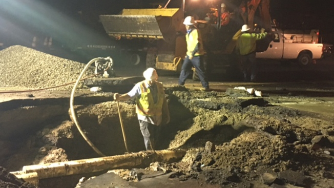 Water Main Break in Vista Causes Sinkhole