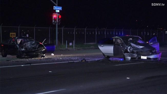 1 Dead in Wrong-Way Crash on Miramar Road