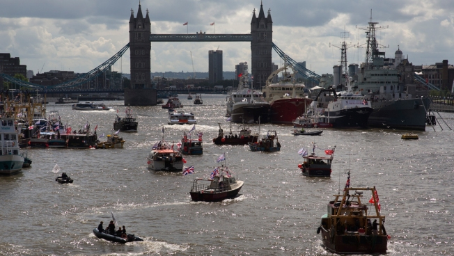 'We Want Our Waters Back': Flotilla Pushing for UK to Leave EU Prompts Skirmish on the Thames