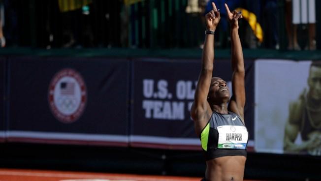 Dawn Harper Wins 100-Meter Hurdles