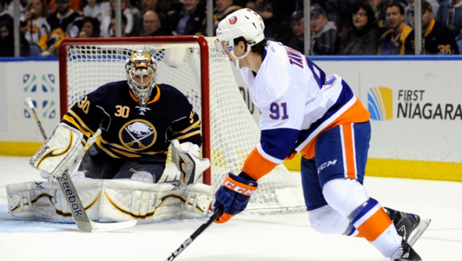 Nabokov Stops 35 in Islanders' 4-0 Win Over Sabres