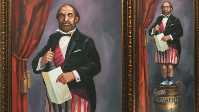At Auction: 'Stretching' Haunted Mansion Portrait