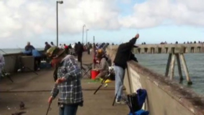 Dozens Pack Pacifica Pier for First Sunday of Crab Season