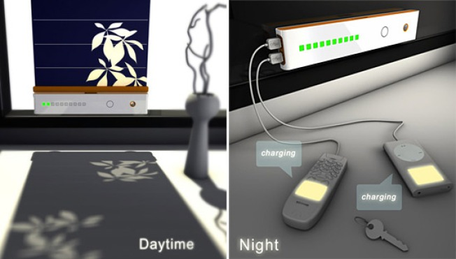 Solar Blinds Charge Gadgets