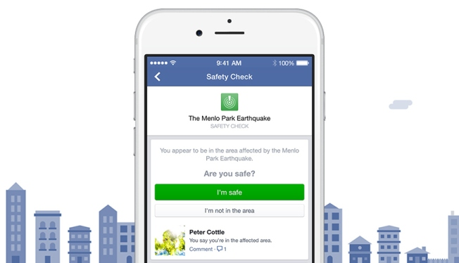 "Facebook Launches ""Safety Check"" in Natural Disasters"