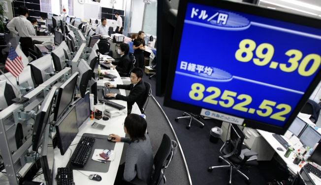 Asia Stocks Fall on News of Bailout Failure
