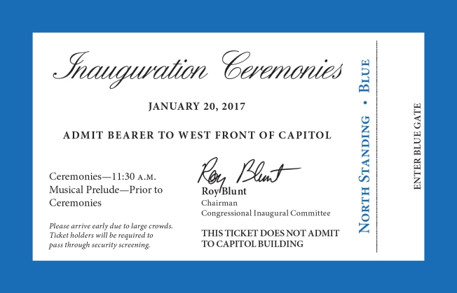 [NATL-DC] IMAGES: Tickets, Map Unveiled for Trump Inauguration