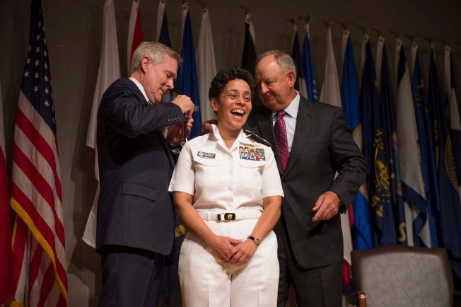 Navy Has its First Female Four-Star Admiral in Michelle Howard