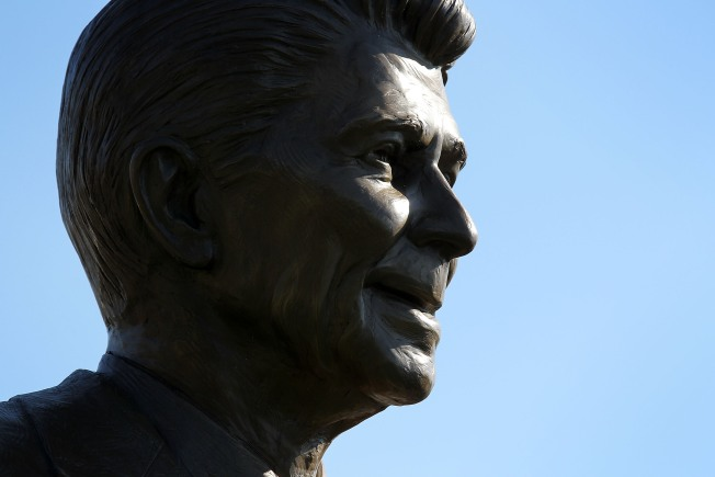 Ronald Reagan Image Vandalized