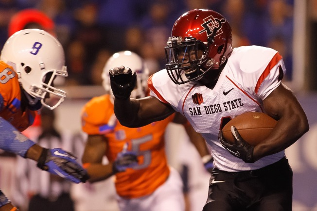Aztecs RB Adam Muema Leaves NFL Combine
