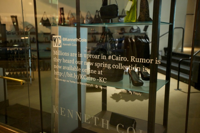Notorious Kenneth Cole Tweet Immortalized at SF Store