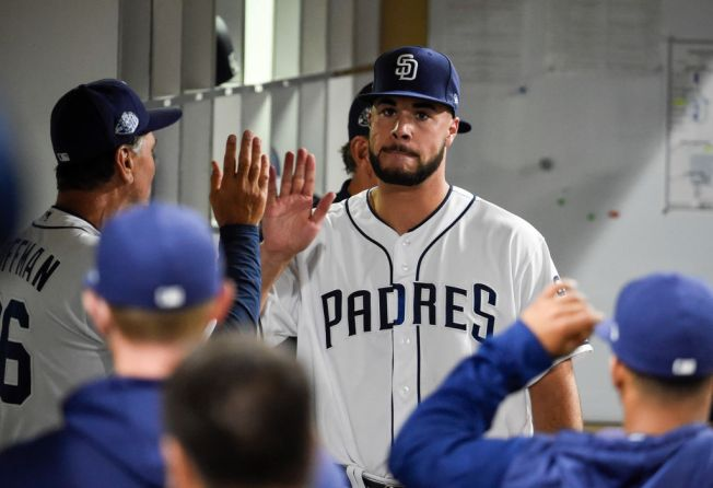 Lucchesi Deals, Machado Homers in Shutout of Brewers