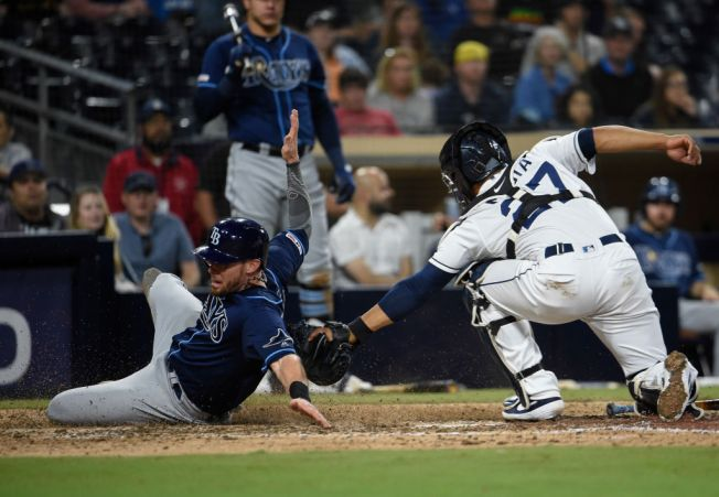 Kinsler Pitches and Homers as Rays Hammer Padres