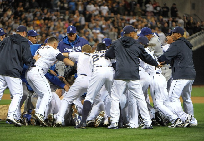 Bench-Clearing Brawl at Padres, Dodgers Game
