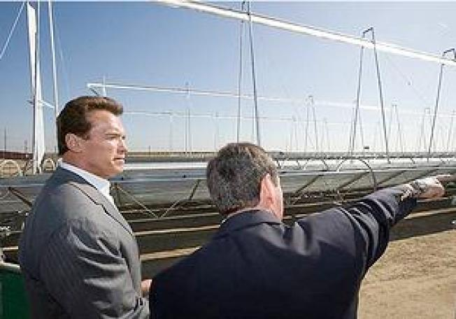 Mirrors Up at New California Solar Thermal Power Plant