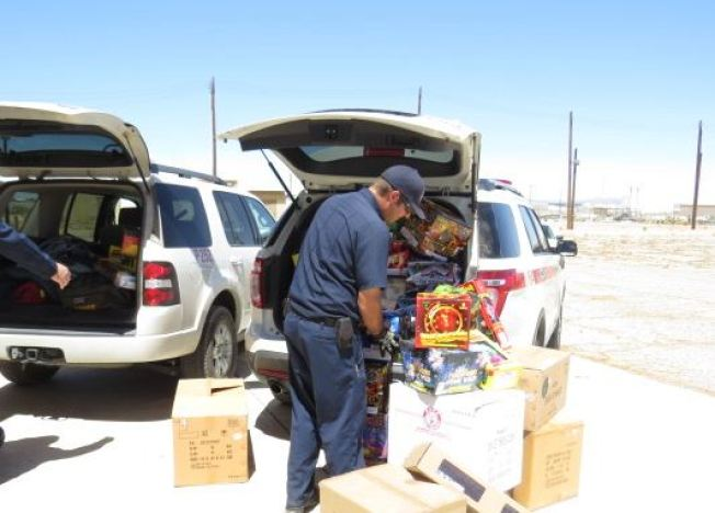 10 Tons of Fireworks Seized in San Bernardino County