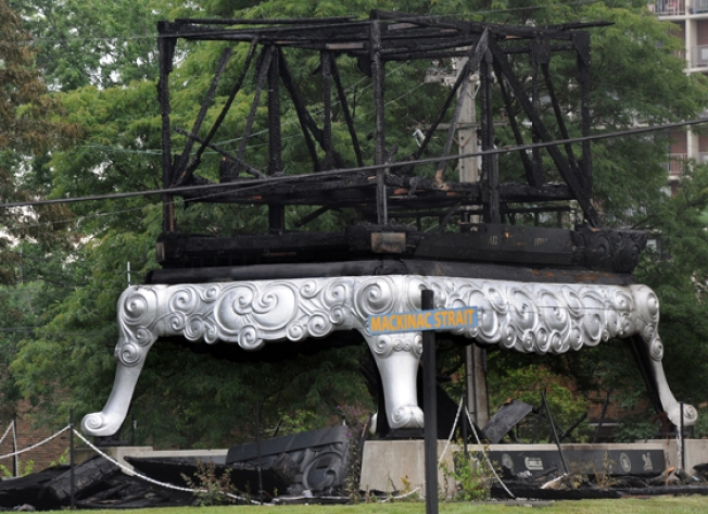 World's Largest Stove Destroyed - By Fire